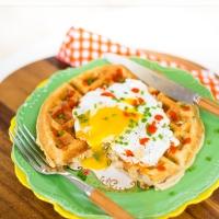 cornmeal sausage waffles