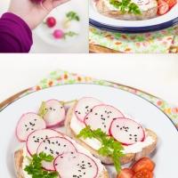 radish tartine