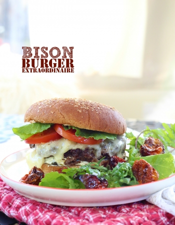 Juicy Bison Burger