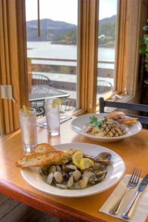 Buck Bay Steamed Clams from the Madrona Bar and Grill on Orcas Island