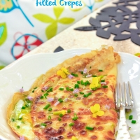 Egg and Cheese Filled Crepes
