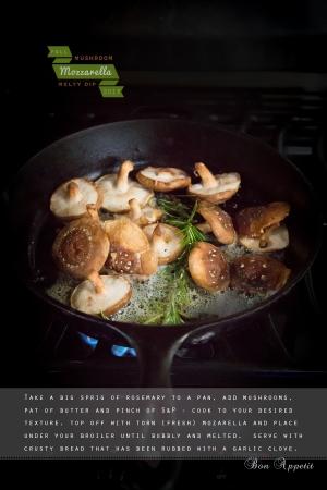 Melty Mozzarella and Mushroom Dip