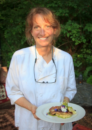 Chef Gretchen's Lavender Thyme Crusted Free Range Chicken Breast