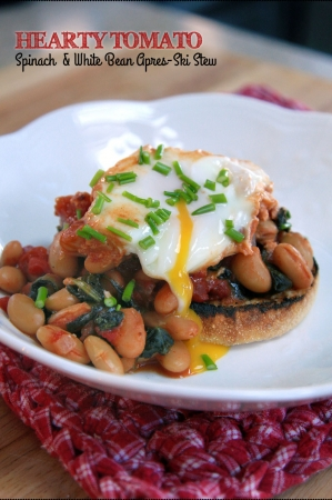 Hearty Tomato, Spinach and White Bean Stew
