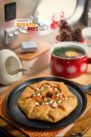 sweet potato beet tart