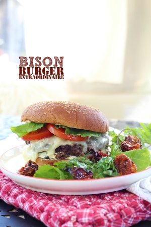Juicy Bison Burger