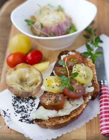 Roasted Spring Garlic Tartine