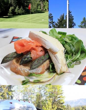 Purple Asaparagus and Salmon Salad