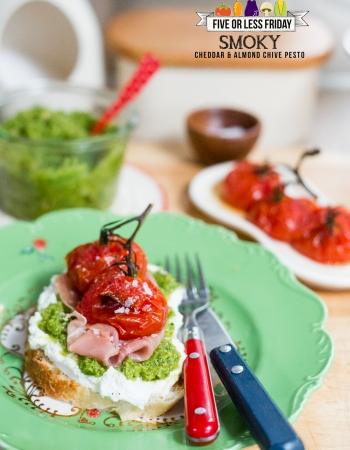 Smoky Cheddar & Almond Chive Pesto