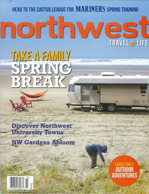 Northwest Travel Magazine // March April Issue Front Cover