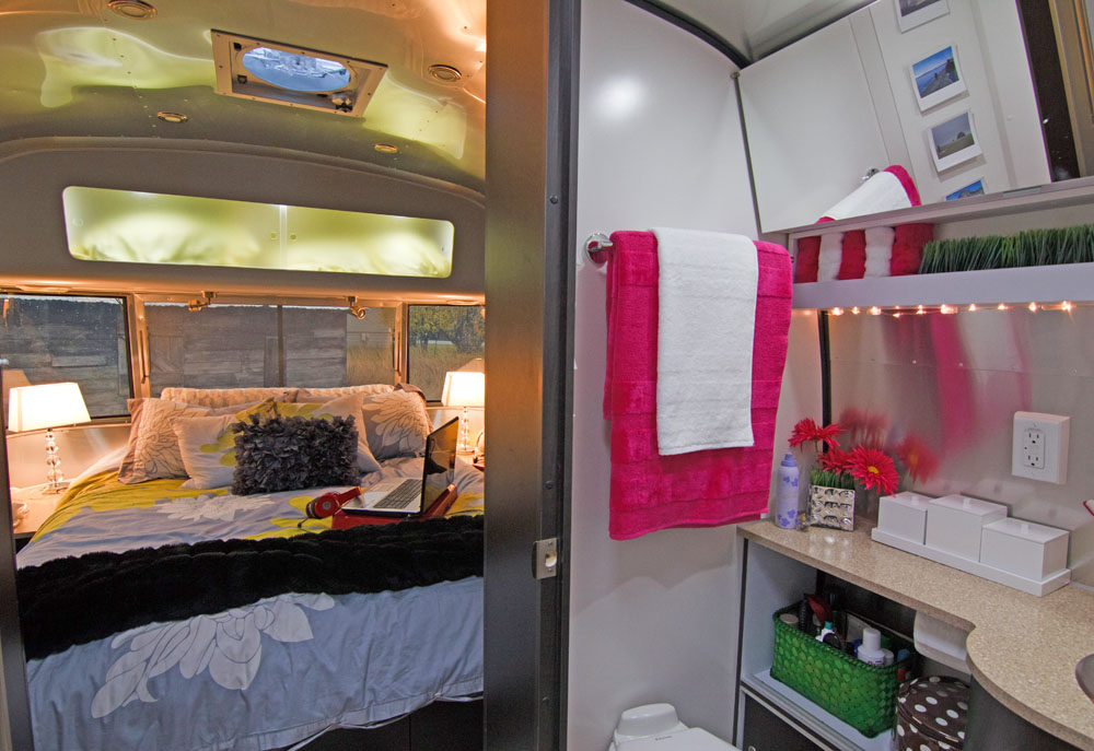 Inside An Airstream Travel Trailer, Airstream Travel Trailer Modern  Interiors, Decorating A Trailer,
