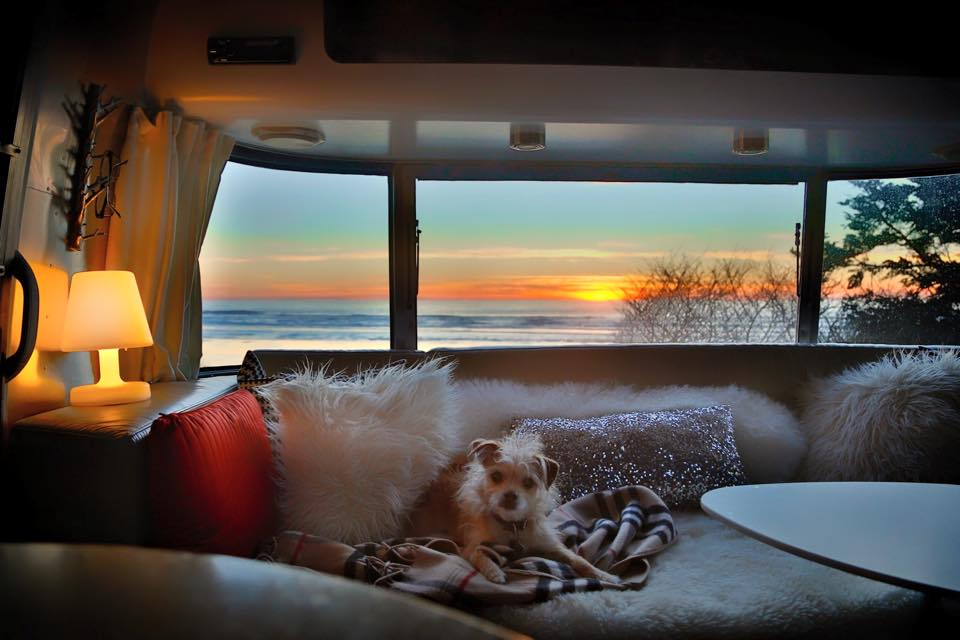 Peek inside our Airstream // A Room with a View via J5MM.com #Airstream