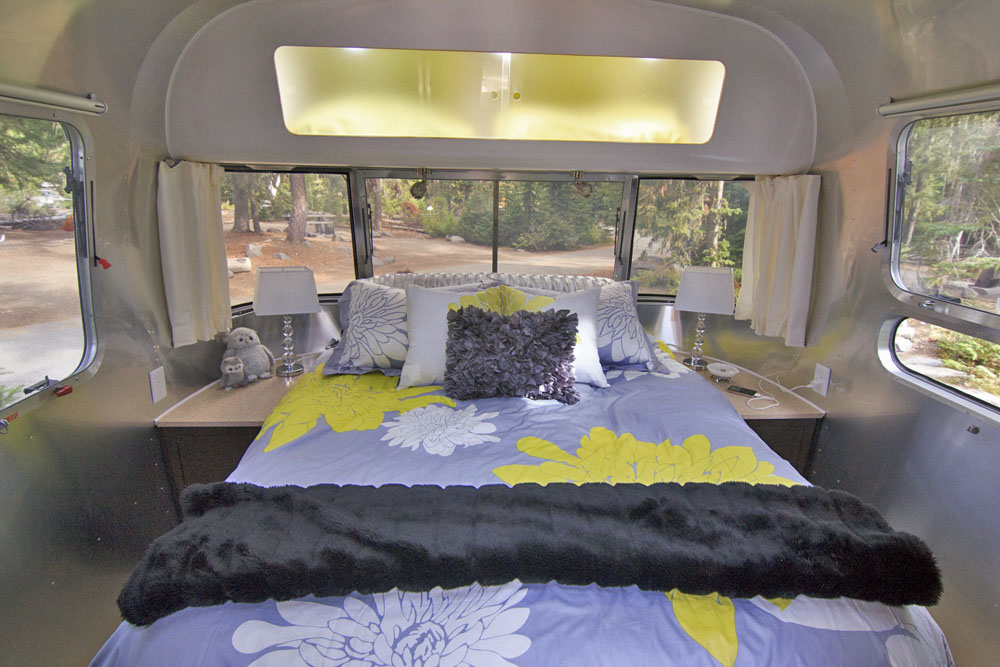 Inside an Airstream Travel Trailer, Airstream Travel Trailer Modern Interiors, Decorating a Trailer, Decorating an Airstream Travel Trailer, RV Kitchen, RV Decorating, Airstream Travel Trailer Kitchen, RV Cooking, Airstream Cooking, Airstream Cuisine