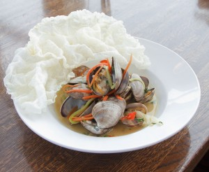 Sake Steamed Clams with Ginger-Soy Butter