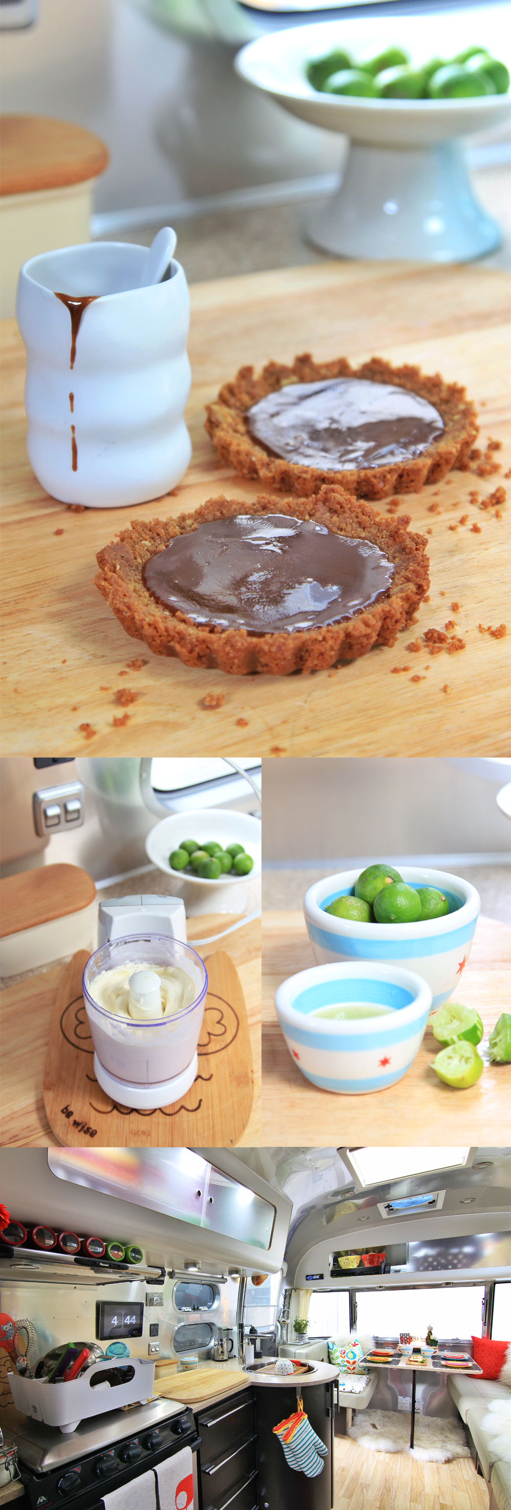Key Lime Caramel Airstream Kitchen Tarts