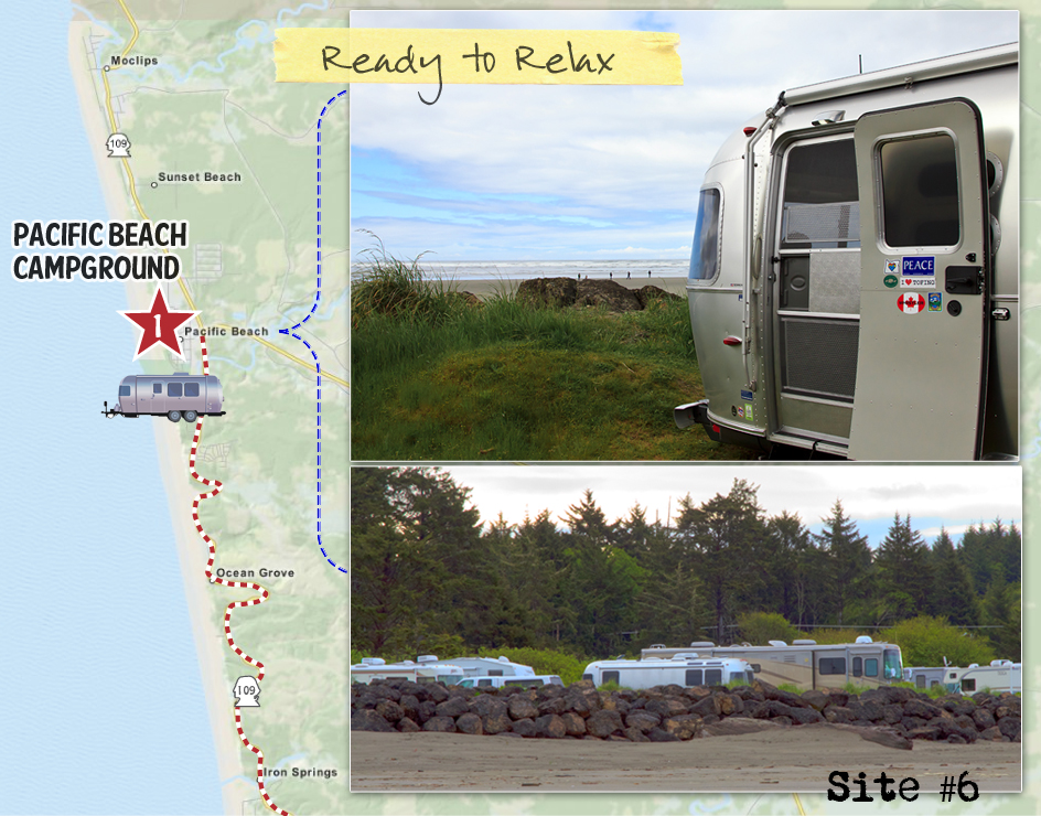 Airstream Road Trip Along the Olympic Peninsula at Pacific Beach State Park