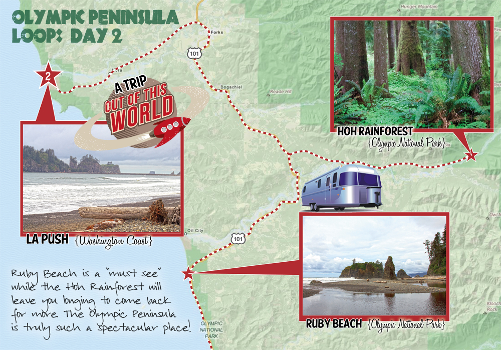 Olympic Peninsula Loop Day 2 with our Airstream