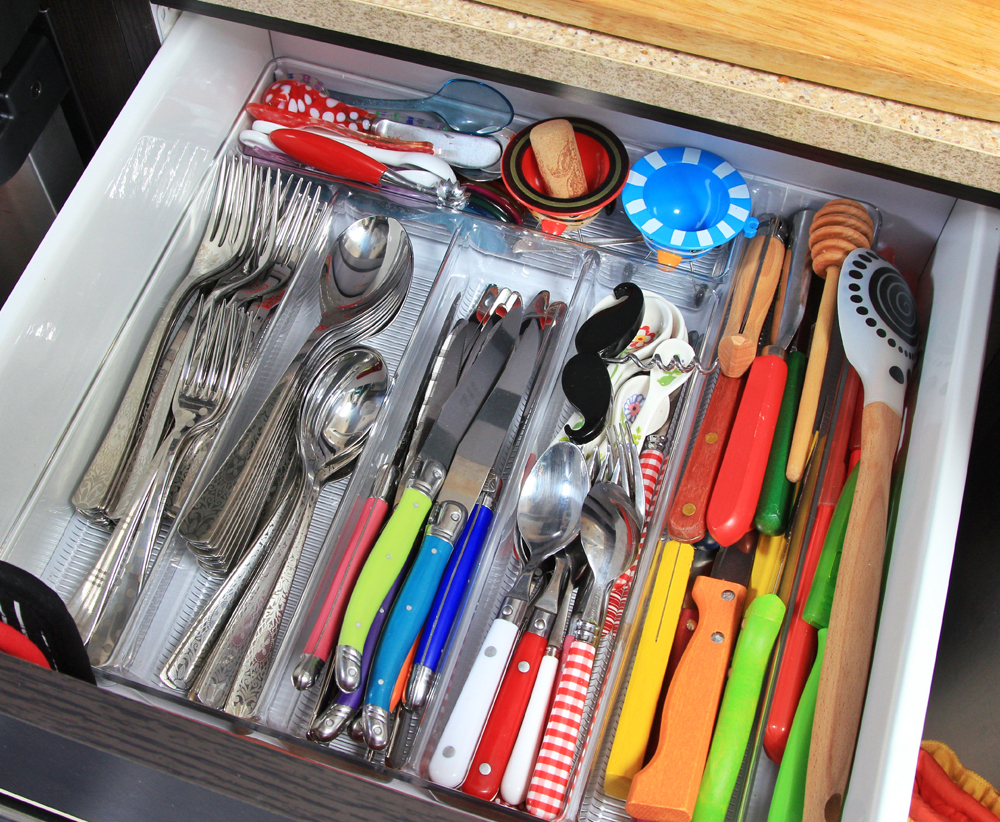 never ending airstream drawer organization