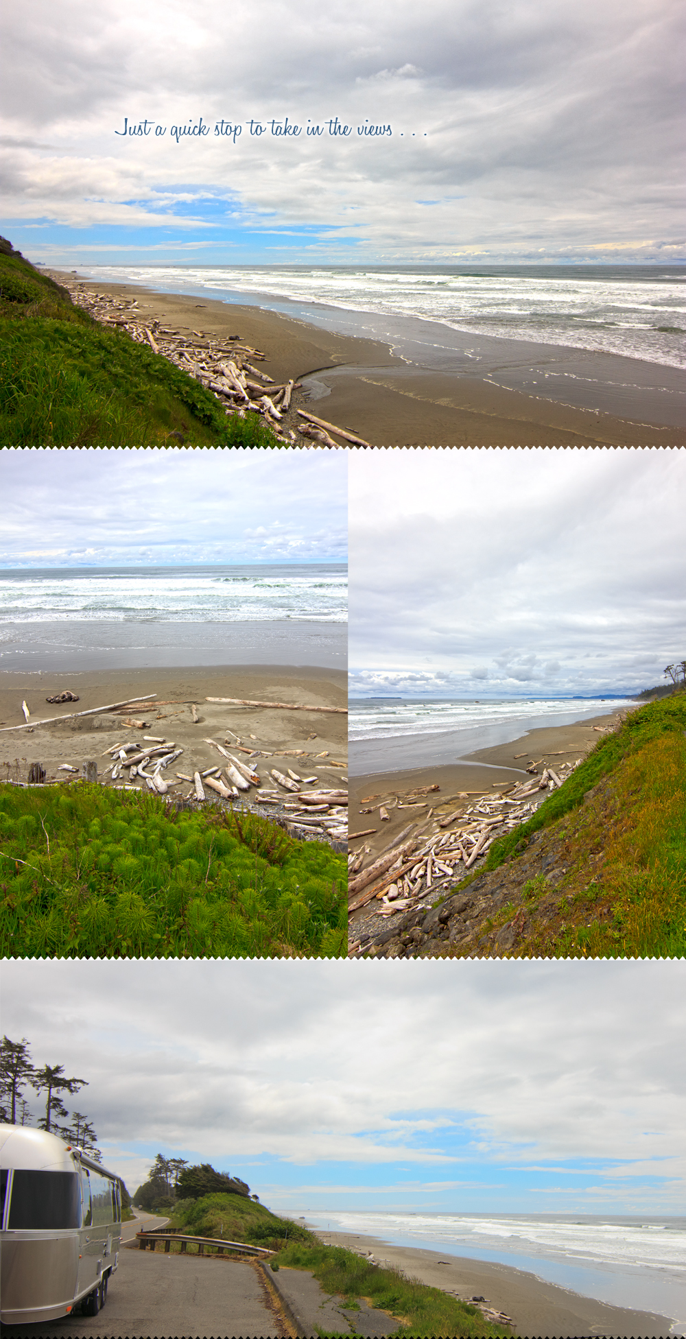 view point along the olympic peninsula with our Airstream