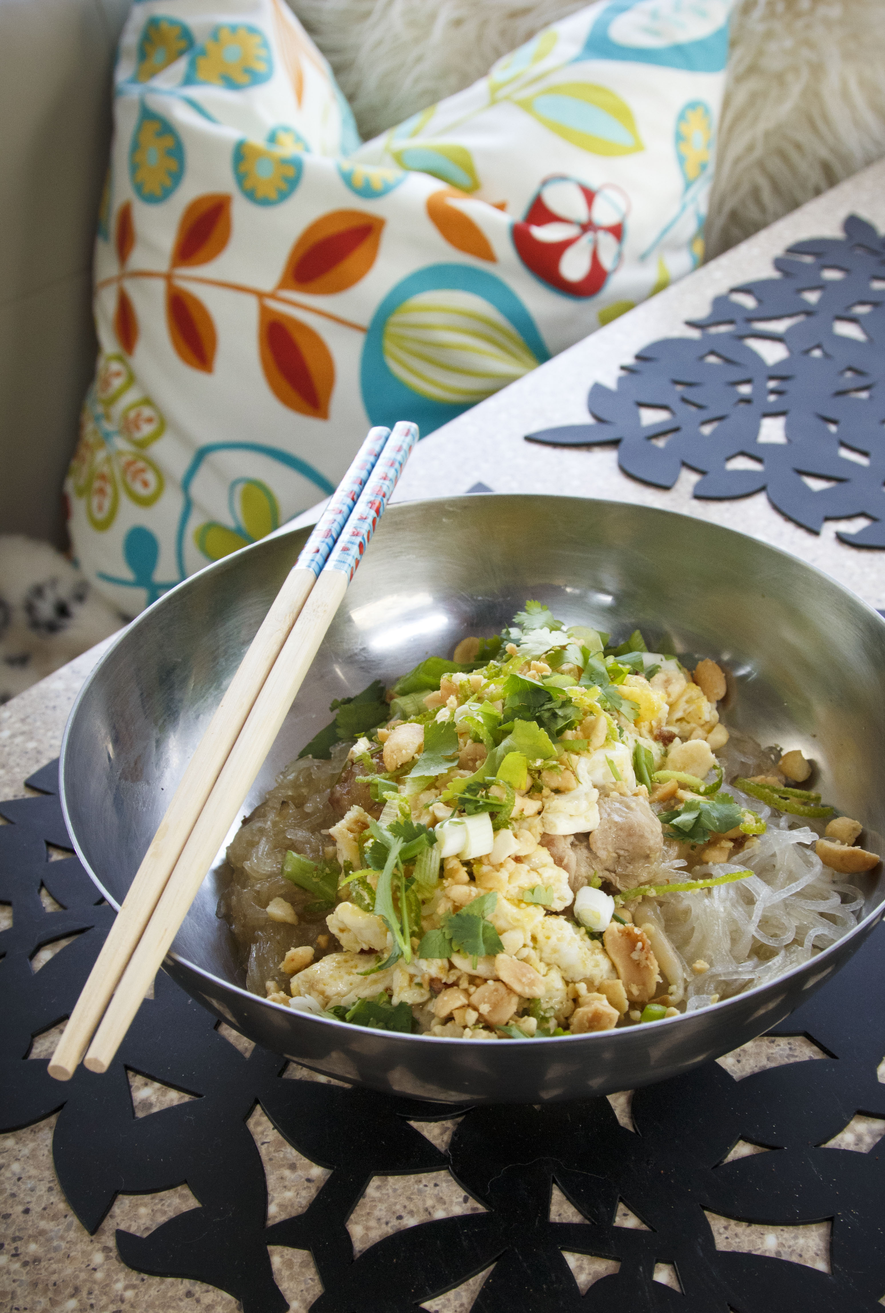 chicken pad thai Airstream cooking