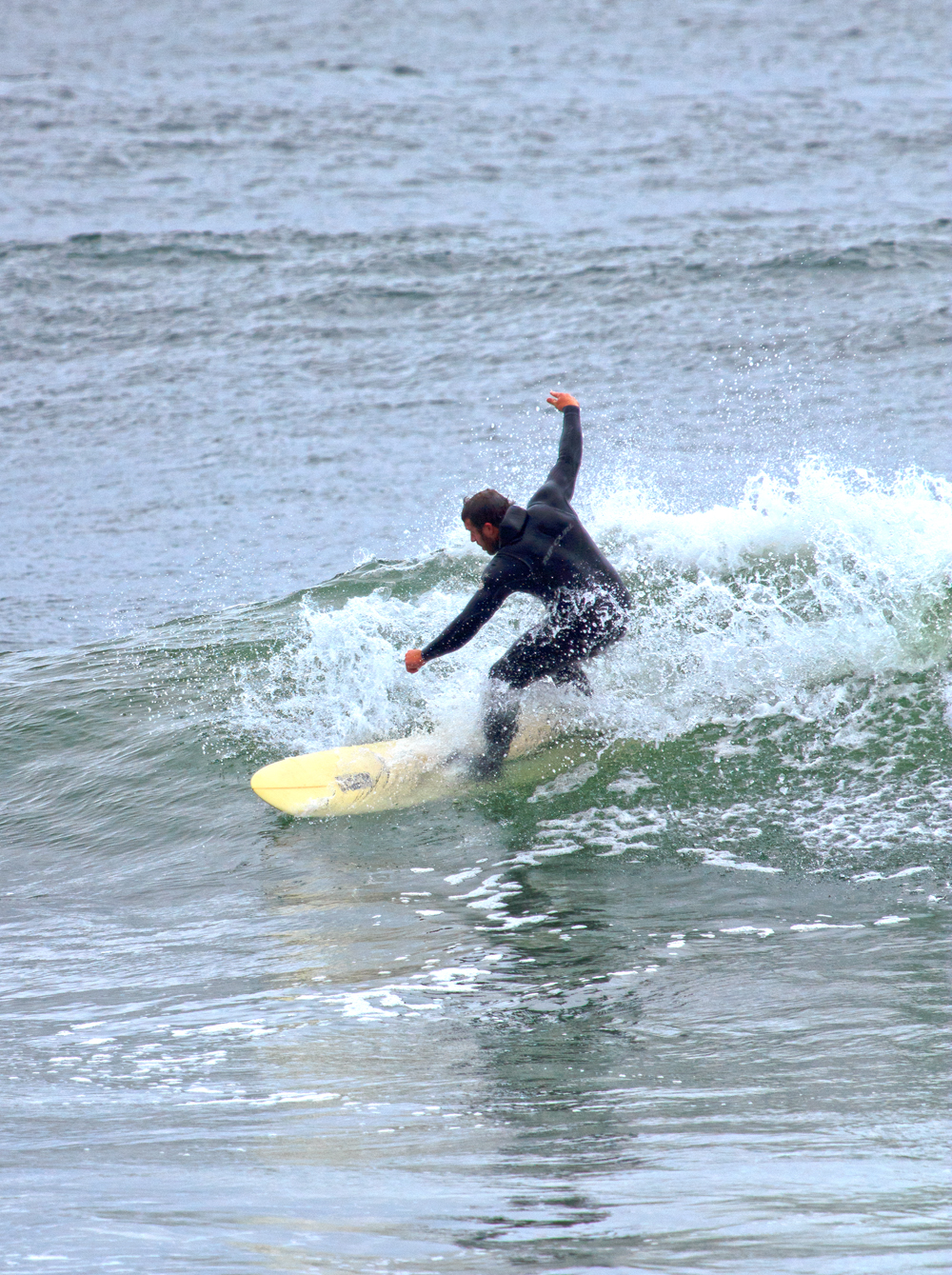 Sufers along the Washington Coast