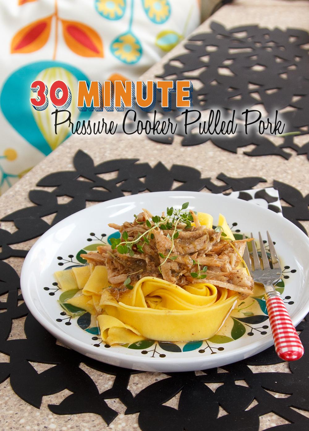 30 Minute Pressure Cooker Pulled Pork