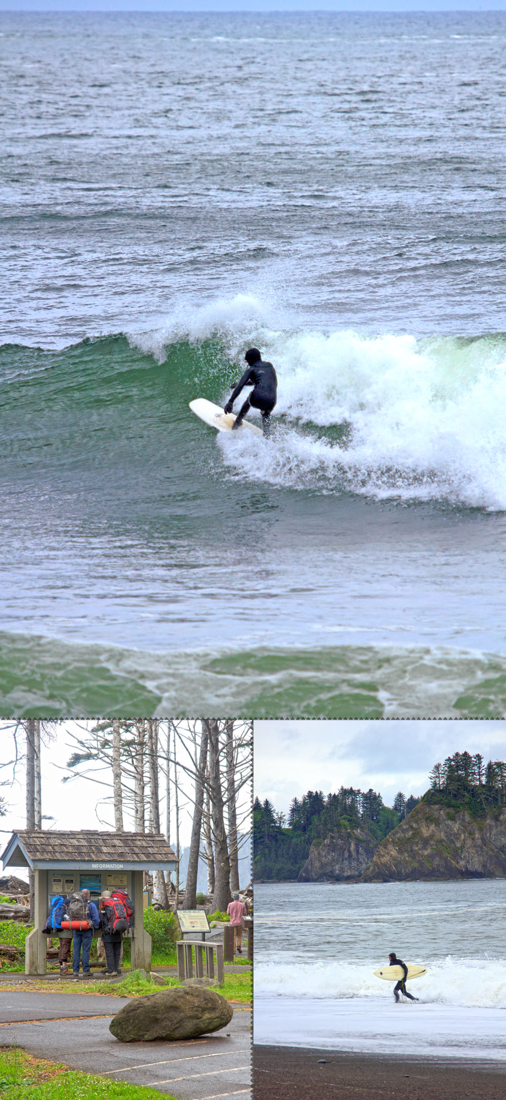 surfer at rialto beach