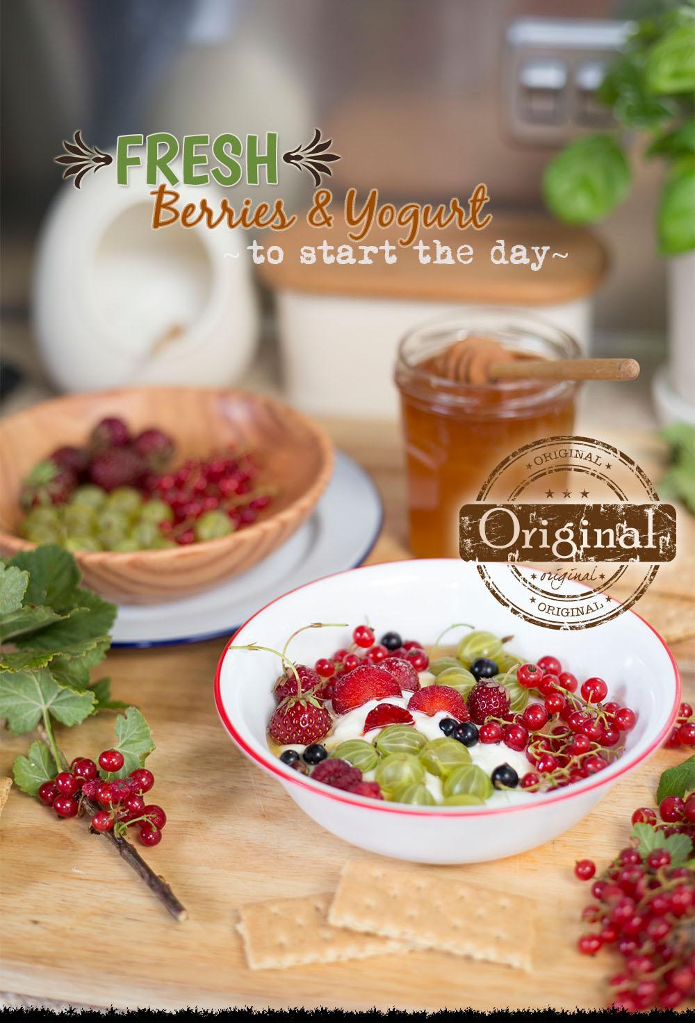 Angler's Roost Breakfast - Berries and Yogurt