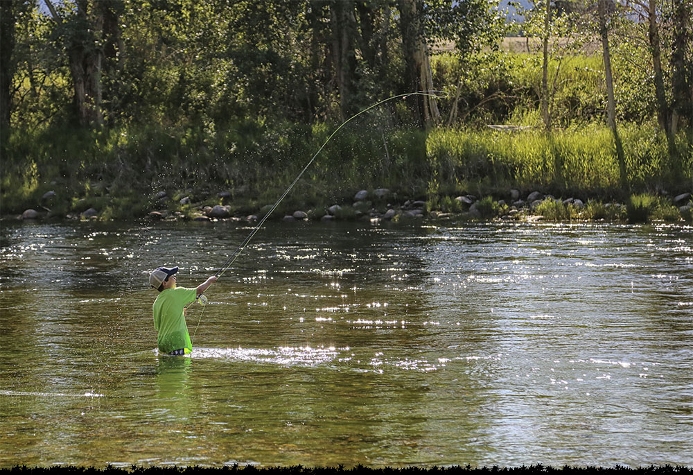 Fishing in the Bitterroot River in Montana