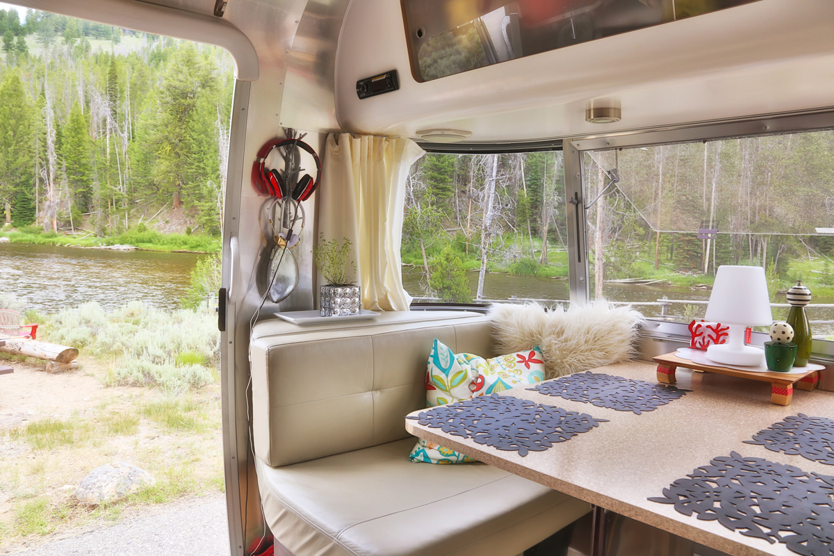 view from the inside of our Airstream