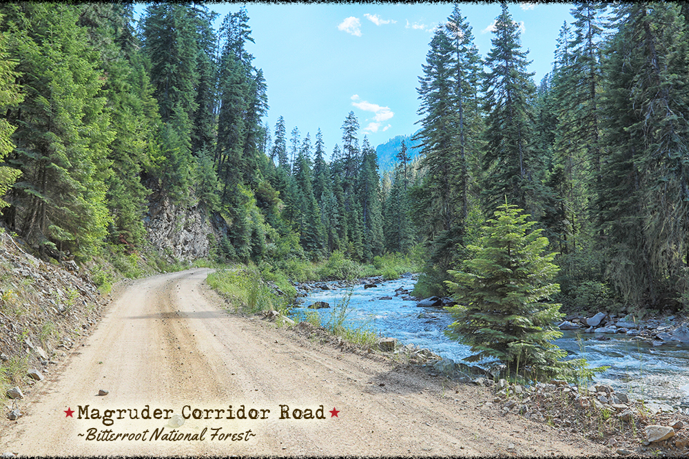 Magruder Corridor Road in the Bitterroot National Forest in Idaho