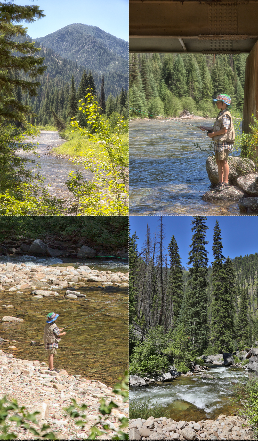 fly fishing on the selway river in the bitterroot mountains with storm creek outfitters