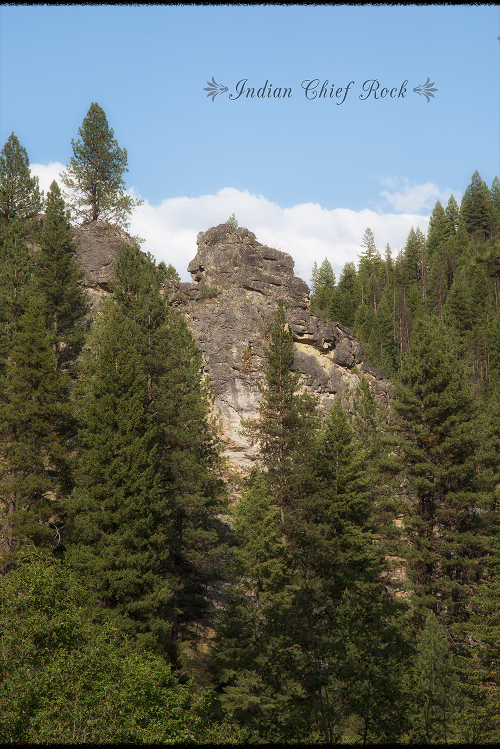 Indian Chief Rock in the Magruder Corridor Bitterroot Mountain Forest in Idaho