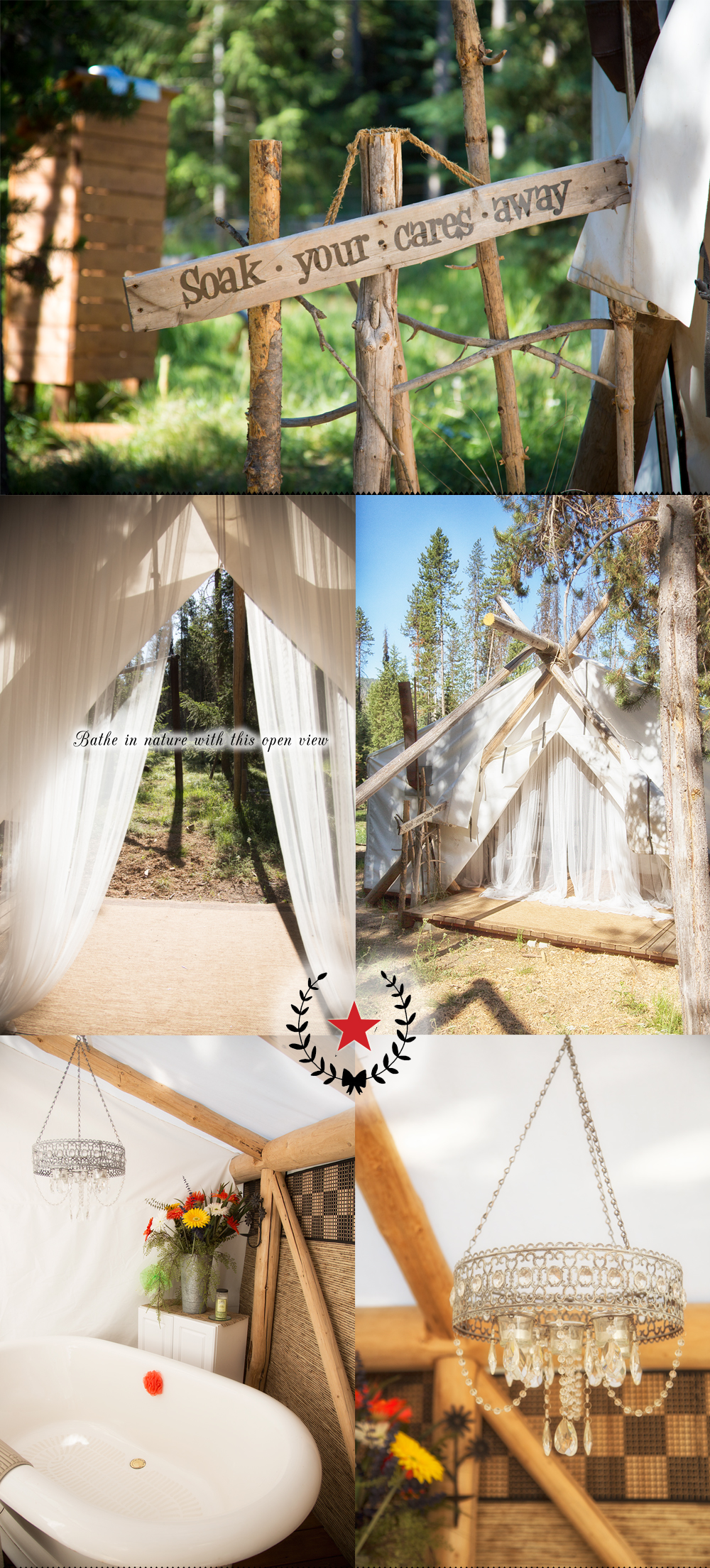 Glamping in the mountains with Storm Creek Outfitters in Idaho