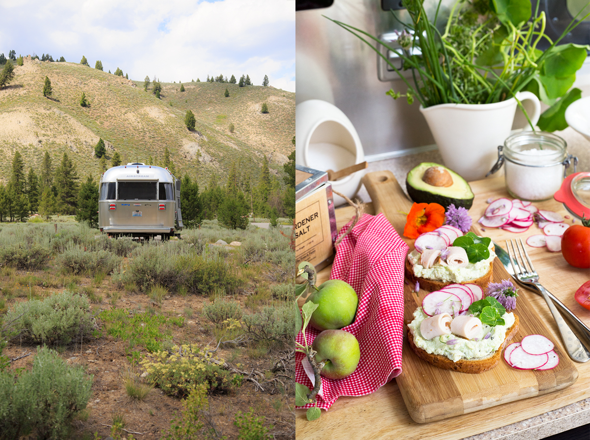 Airstream and lunch