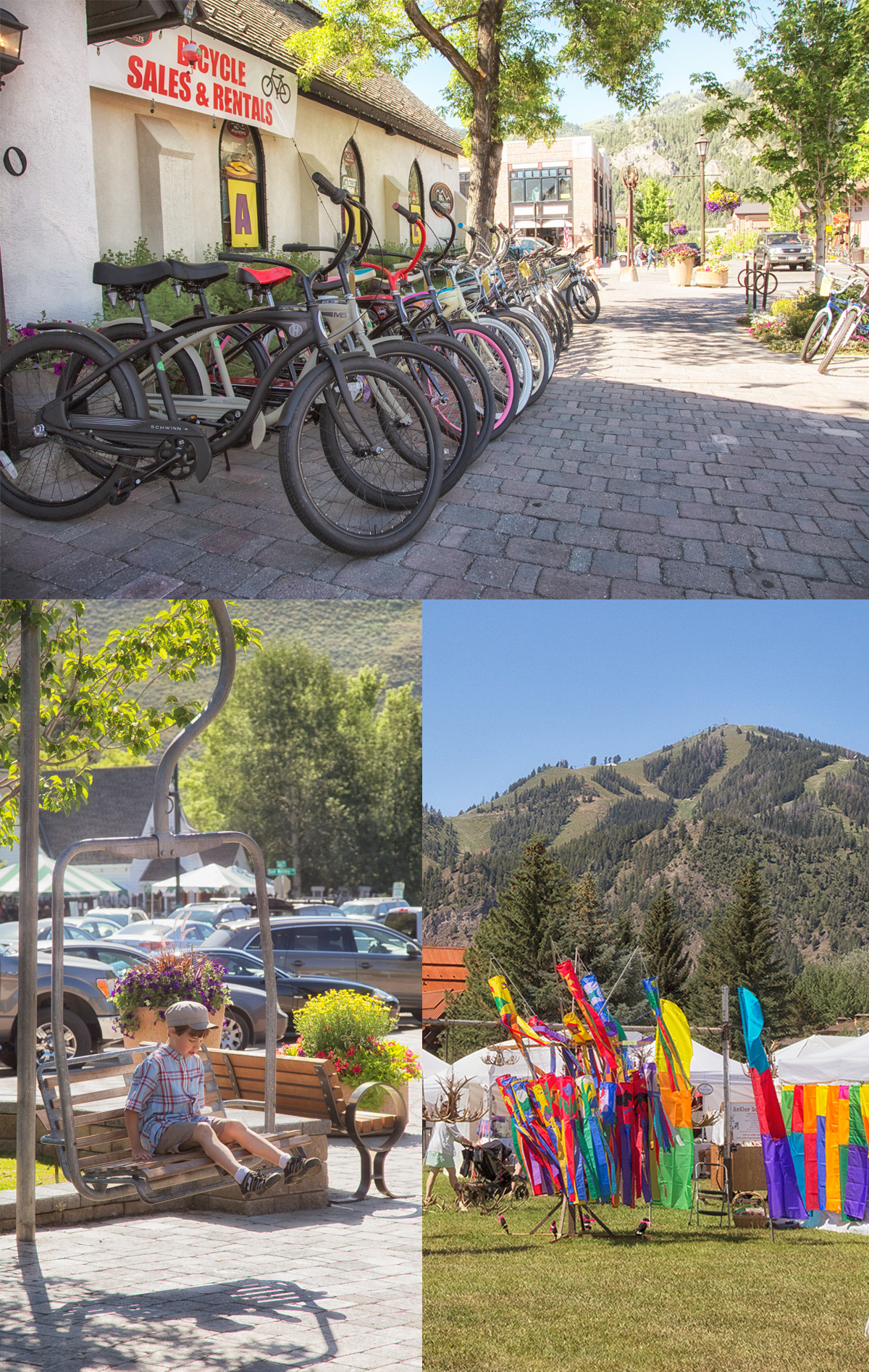 on our way through downtown Ketchum to the annual Ketchum Art Festival