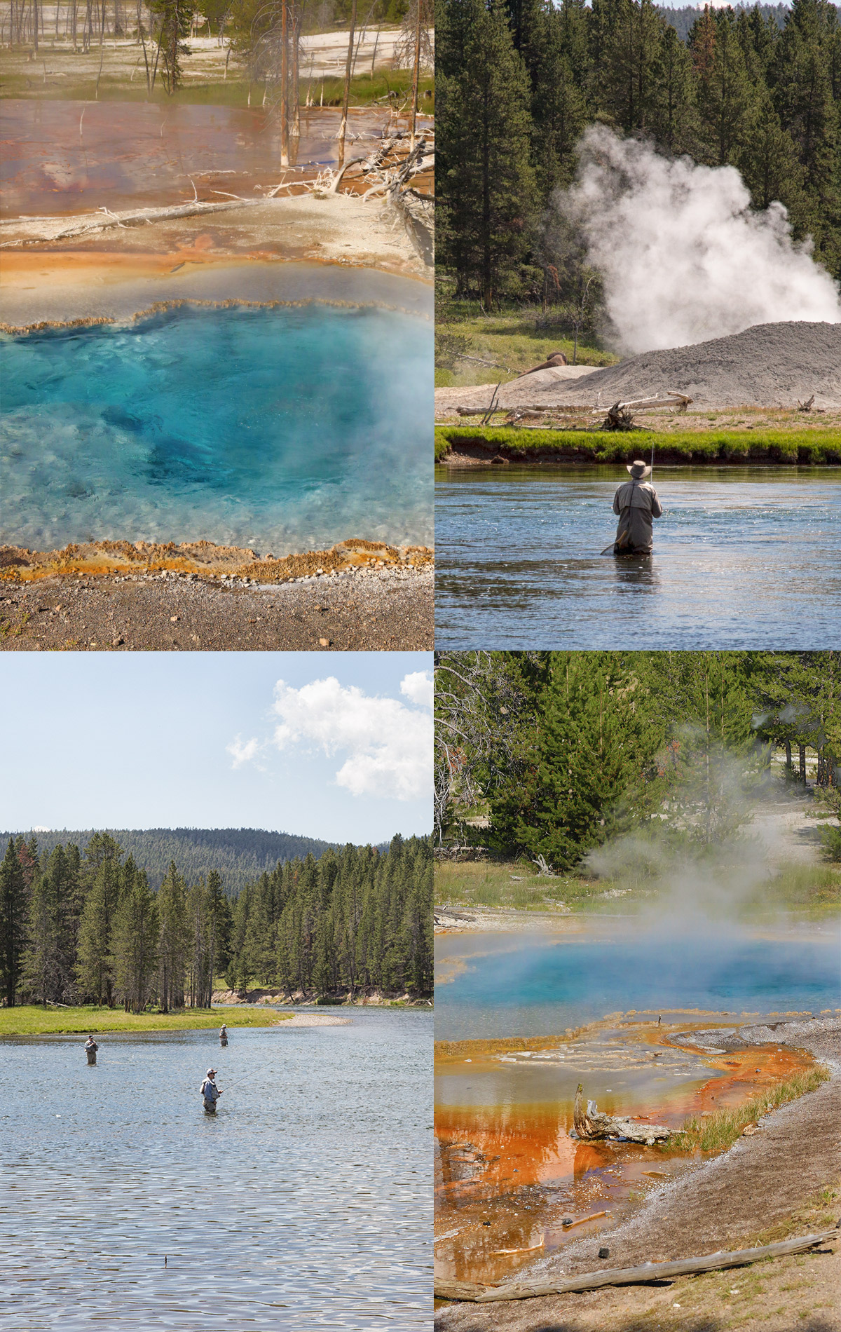Airstream road trip through yellowstone national park