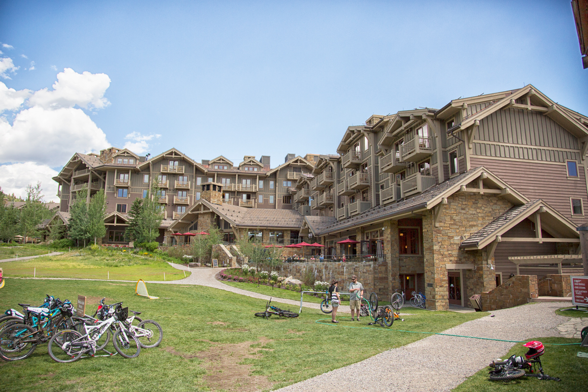 The Four Seasons Resort in Jackson Hole, Wyoming and the Handle Bar Restaurant