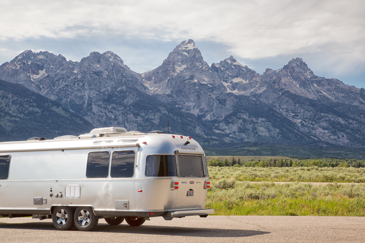Airstream in Grand Teton National Park