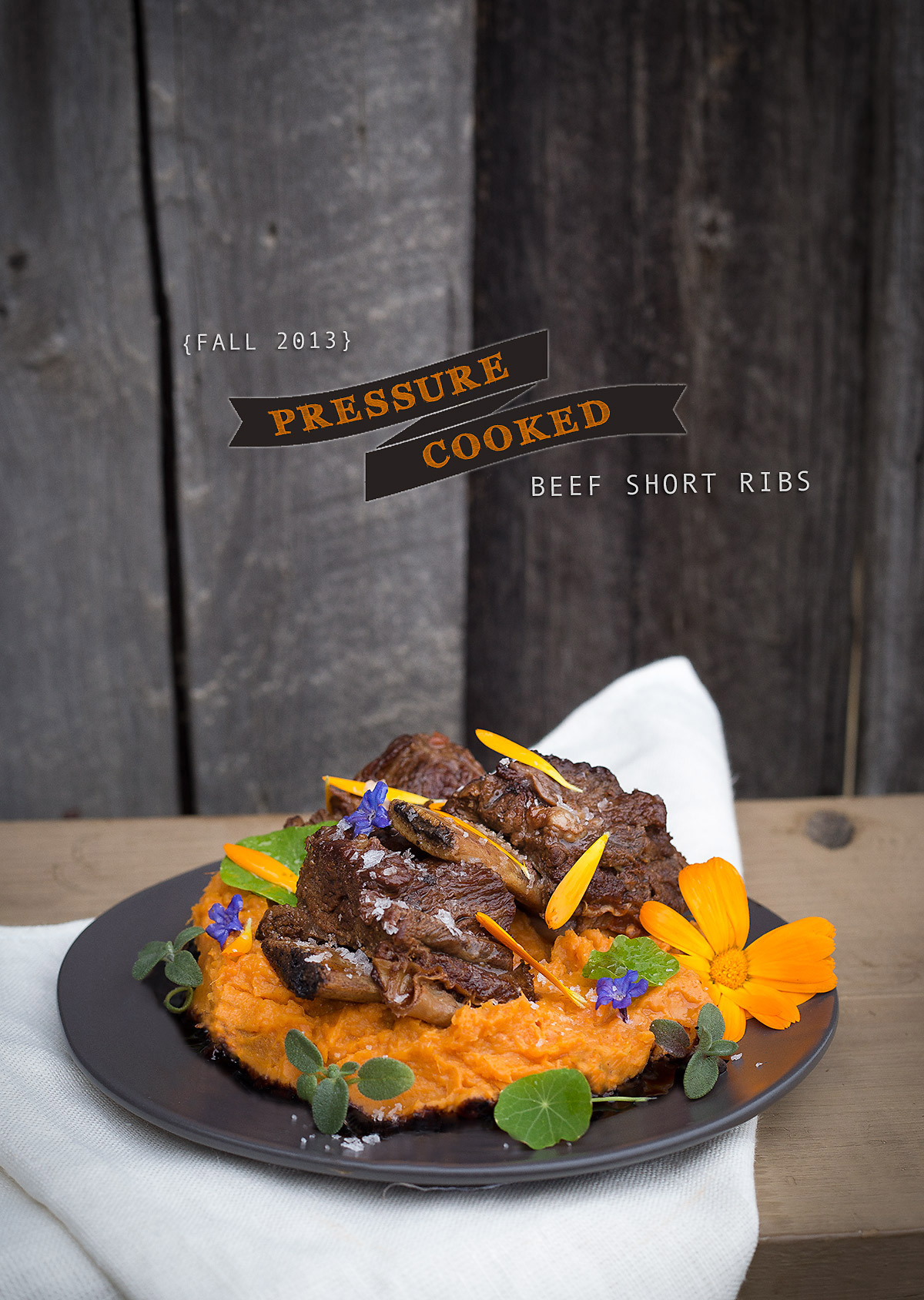 Pressure Cooked Beef Short Ribs