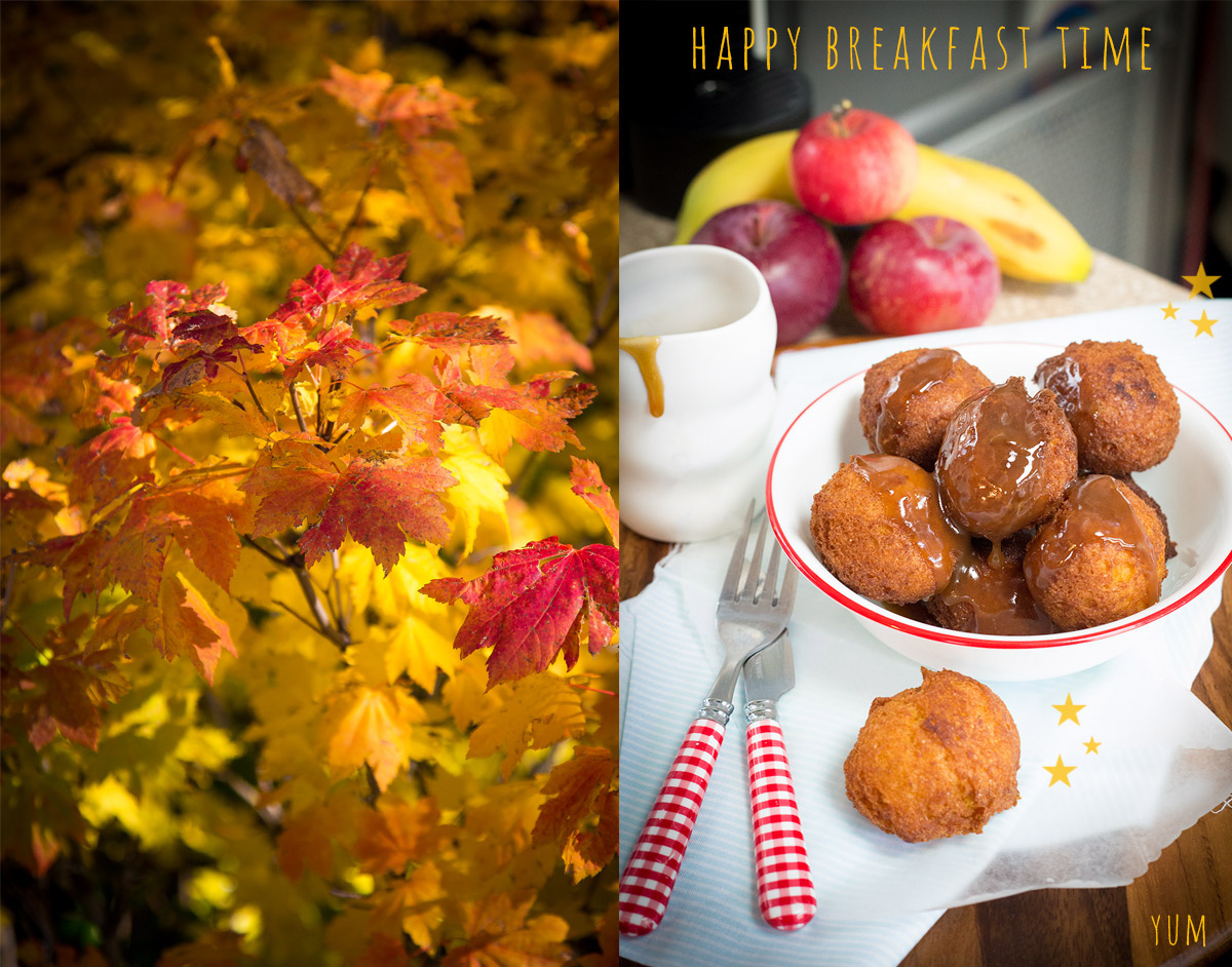 Apple Pumpkin Fritters in the Airstream Kitchen for Breakfast