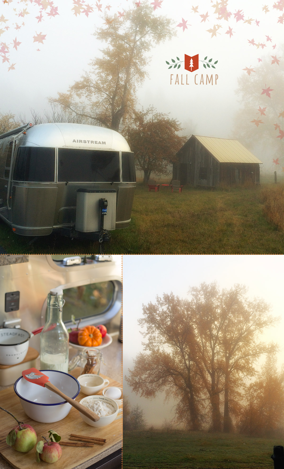 glamping breakfast in the Airstream
