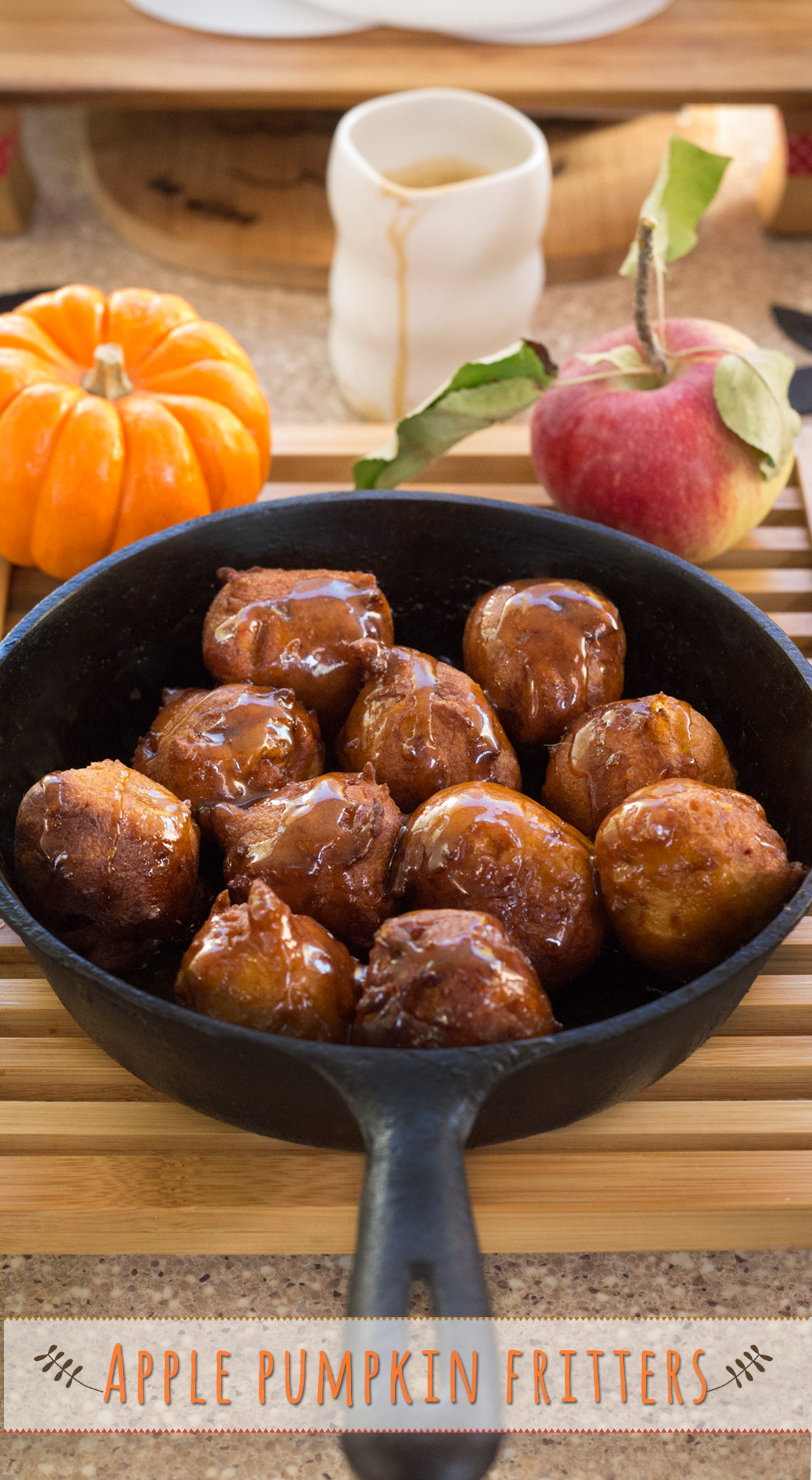 Apple Pumpkin Fritters