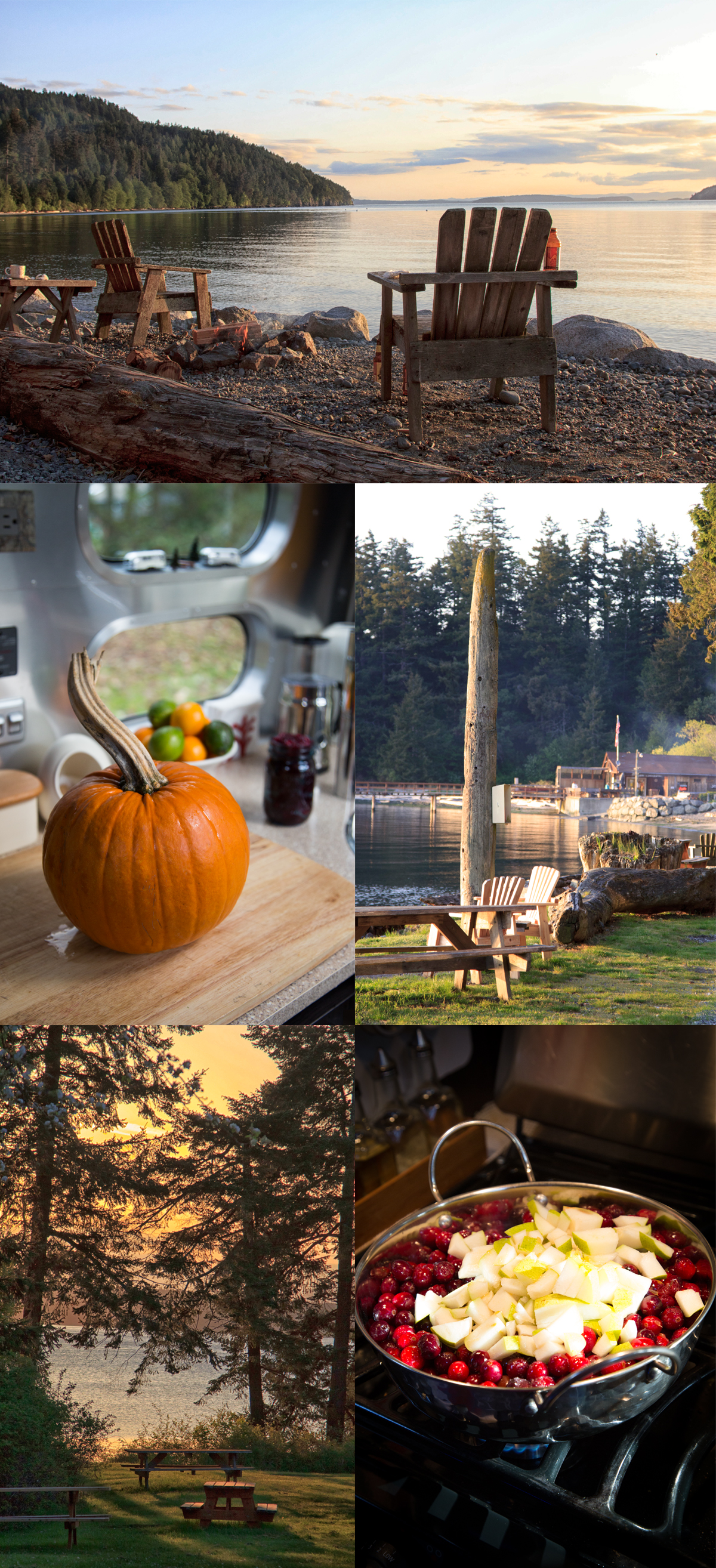 Thanksgiving at West Beach Resort on Orcas Island with our Airstream