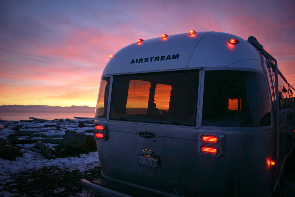 Airstream San Juan Islands Sunset