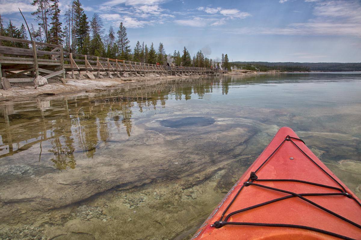 Yellowstone National Park Geysers in Yellowstone Lake