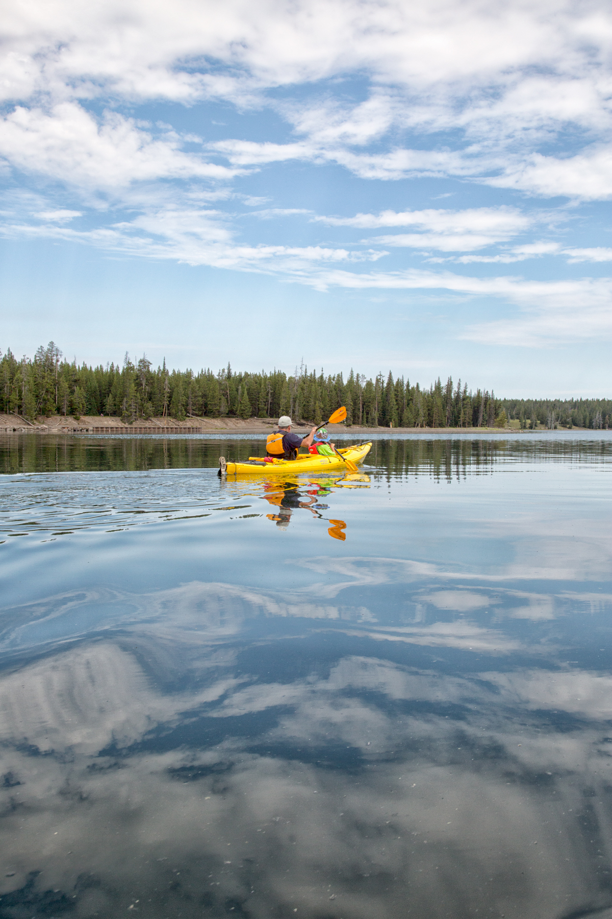 Kayaking on Yellowstone Lake to the Geysers