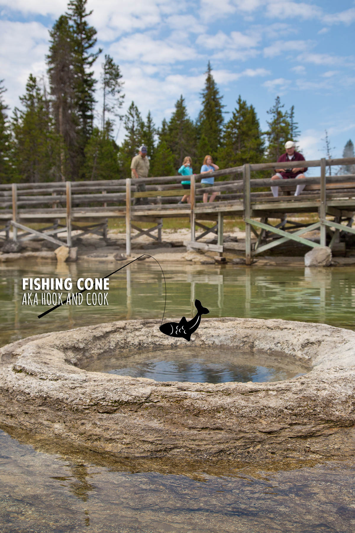 Fishing Cone in yellowstone lake - yellowstone national park