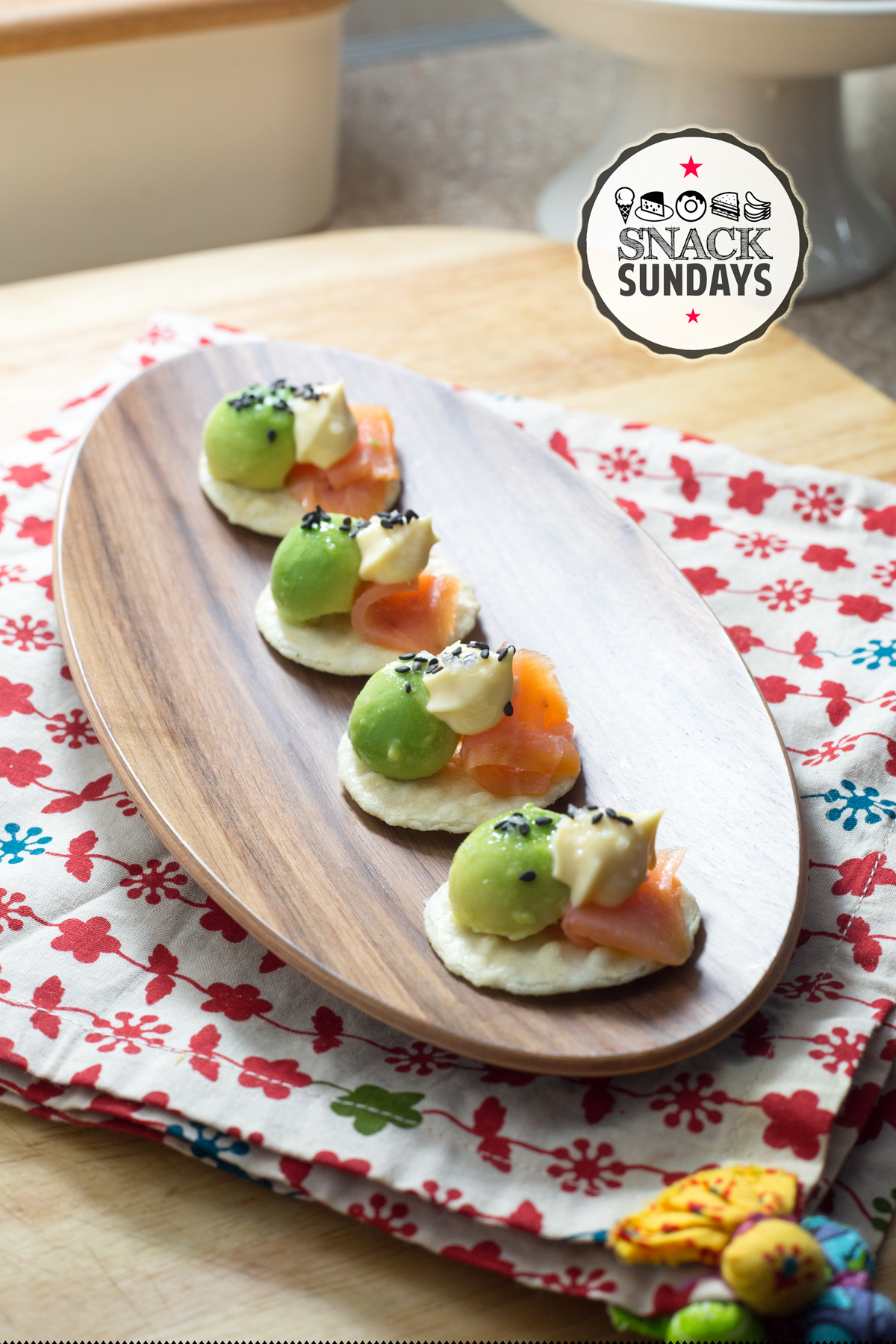 Gravlox and Avocado Bites