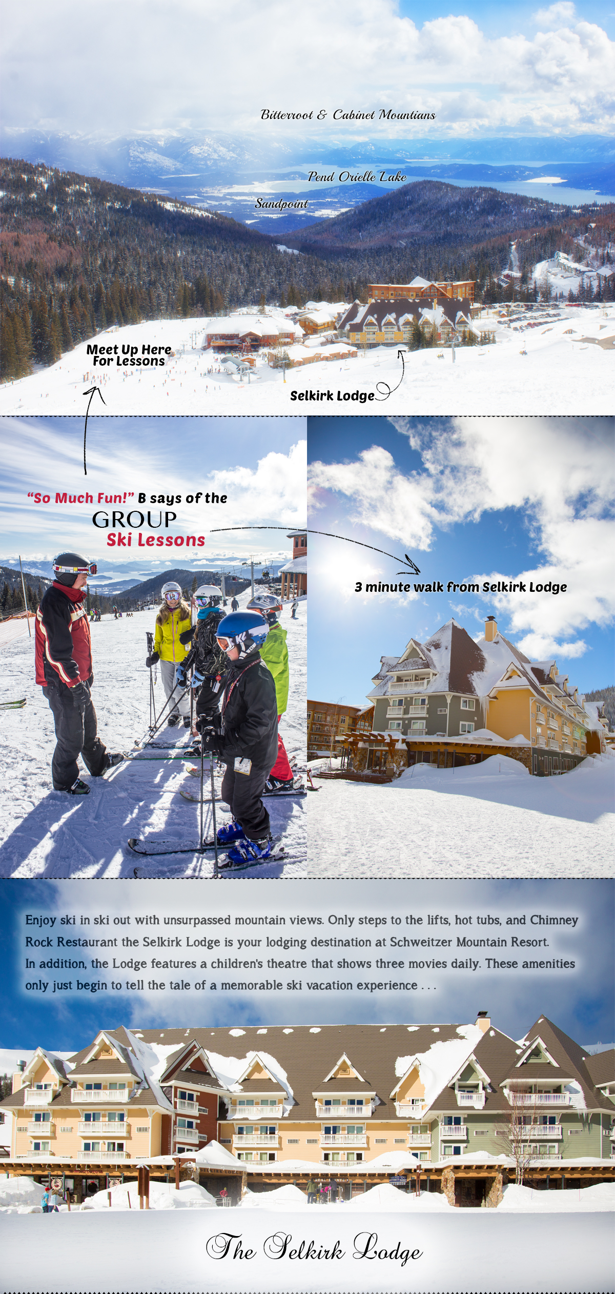 Ski Lessons at Schweitzer Mountain Resort